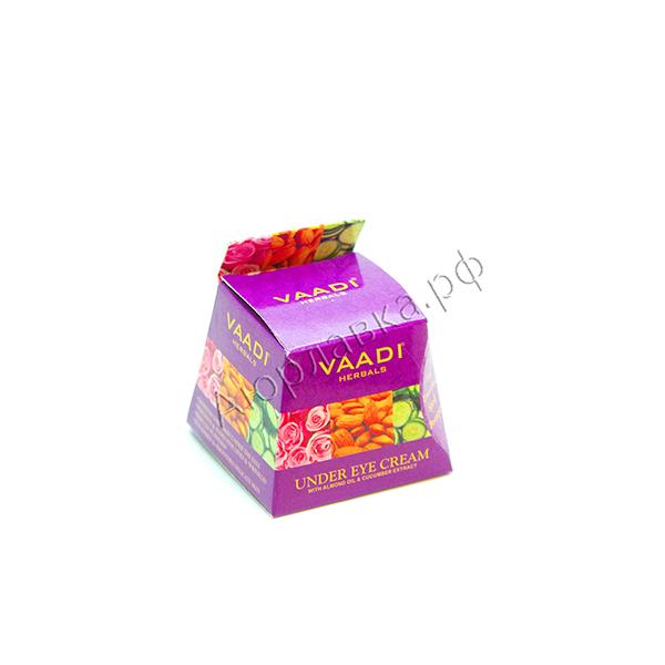 Крем для кожи вокруг глаз с с экстрактом миндального масла и огурцов Vaadi Herbals 30g