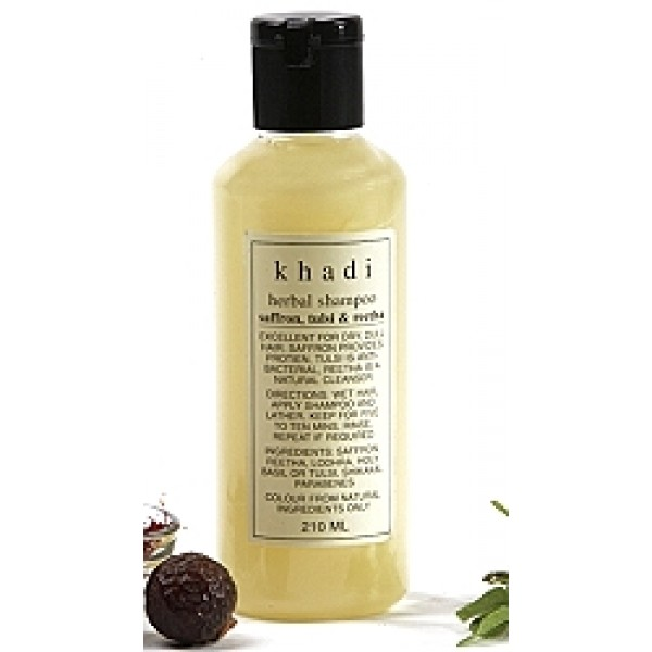 Шампунь с Шафраном, Тулси и Ритхой (Herbal shampoo, Khadi ) 200